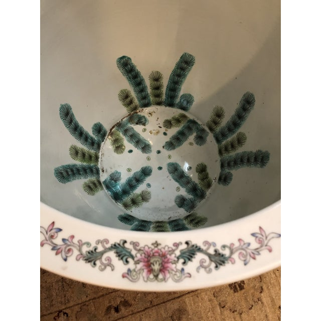 Ceramic Large Ceramic Chinese Planter For Sale - Image 7 of 11