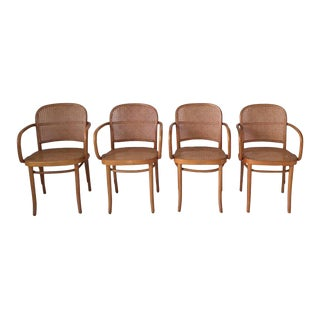 Josef Hoffmann, Bentwood and Cane No. 811 Chairs, Set of Four, 1960s