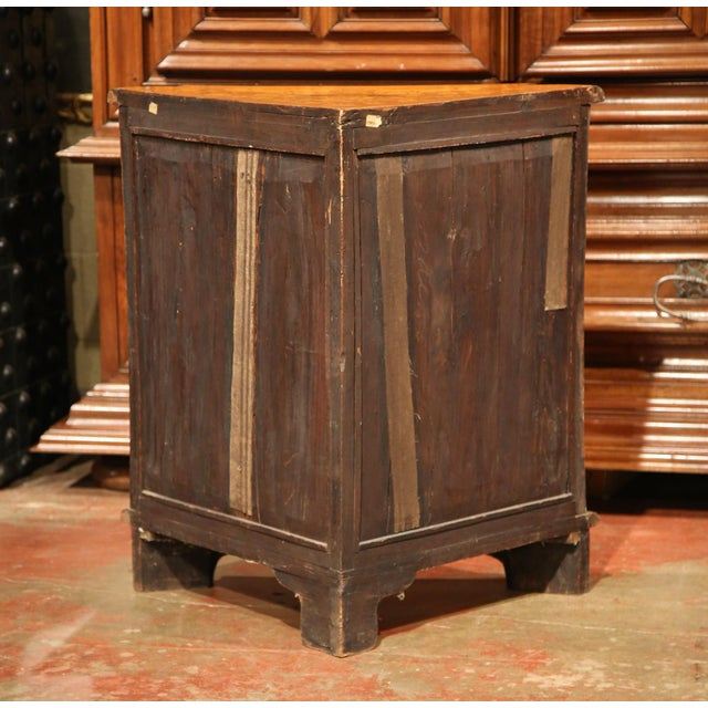 Brown Early 19th Century Dutch Walnut Marquetry Corner Cabinet with Inlay Work For Sale - Image 8 of 9