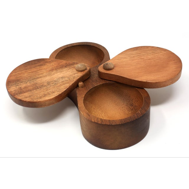 Wood Handmade Wooden Bowl for Herbs or Spices For Sale - Image 7 of 11