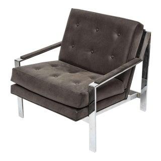 Cy Mann Chrome Chair For Sale