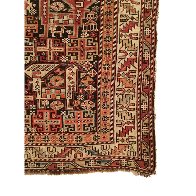 Tribal Antique Caucasian Shirvan Rug For Sale - Image 3 of 5