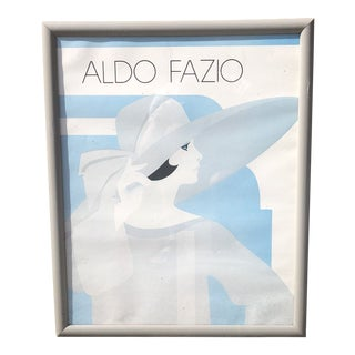 Aldo Fazio Framed Art Deco Fashion Print For Sale