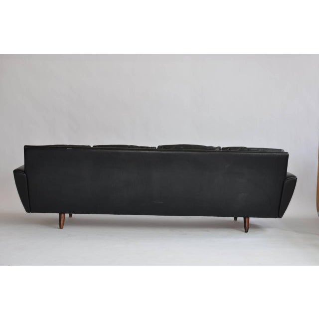 Early 20th Century Danish Leather Sofa with Rosewood Legs For Sale - Image 5 of 10