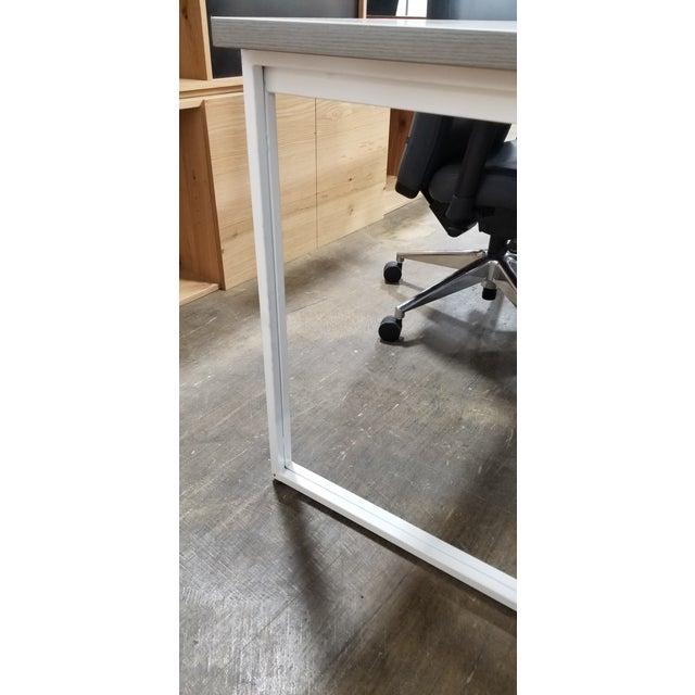 2010s West Elm Industrial Grey Desk For Sale - Image 5 of 6