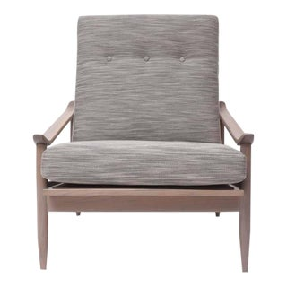 """Greige"" Walnut Lounge Chair by Milo Baughman for Thayer Coggin For Sale"