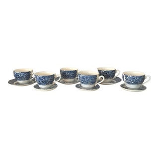 Liberty Blue Historical Scenic Tea Cups - Service for 6