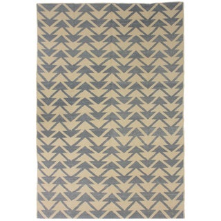 "Aara Rugs Inc. Hand Knotted Modern Sumak Kilim - 9'11"" X 6'7"" For Sale"