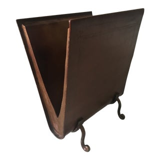 1990s Vintage Brown Magazine Rack For Sale