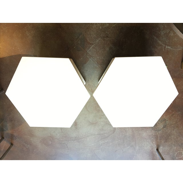 Vintage Hexagon Side Tables - A Pair - Image 3 of 6