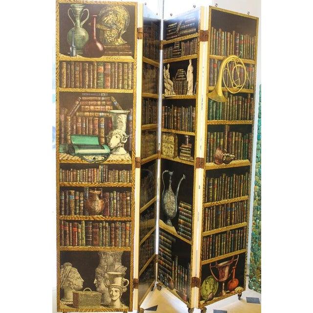 """Folding Screen """"Bosco Con Balaustra-Libri"""" by Piero Fornasetti For Sale - Image 10 of 11"""