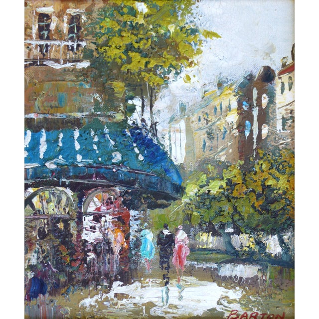 Midcentury Modern Paris Street Scene Oil Paintings- a Pair For Sale In Miami - Image 6 of 13