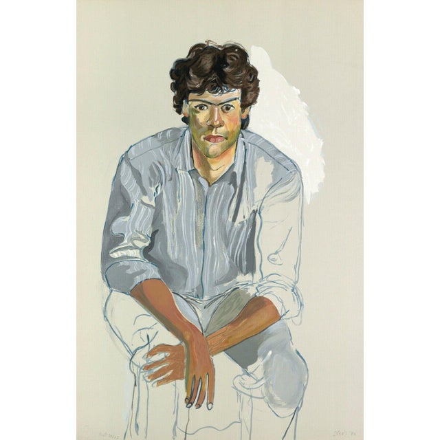 Expressionism Alice Neel The Youth (John Cheim) 1982 For Sale - Image 3 of 3
