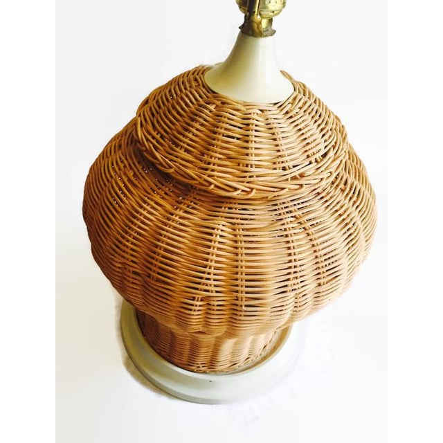 Wicker Ginger Jar Lamp - Image 3 of 7