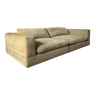 Two Piece Minotti Down Filled Luxury Sofa For Sale
