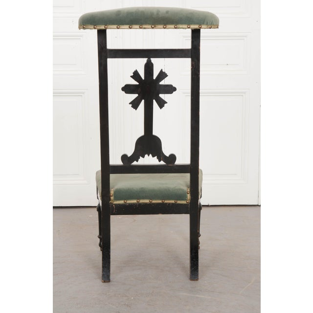 French 19th Century Upholstered and Ebonized Prie Dieu For Sale - Image 10 of 13