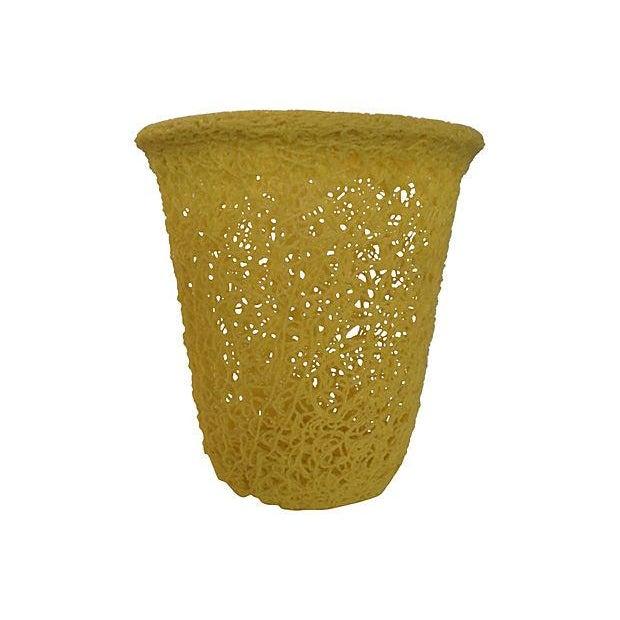 Mid-Century 'Spaghetti' Waste Basket - Image 1 of 4
