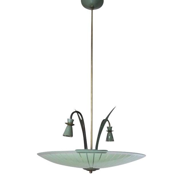 Green Pendant by Stilnovo For Sale