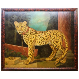 Grand Scale Painting of Leopard by Wm.Skilling For Sale