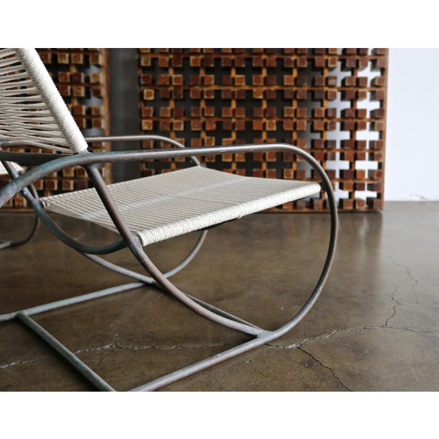 Terra Furniture Bronze Outdoor Lounge Chair and Ottoman by Kipp Stewart for Terra of California For Sale - Image 4 of 13