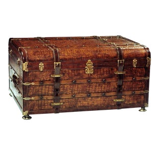 Scarborough House Brown Cocktail Trunk Table For Sale
