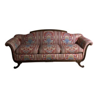 Modern Ikat Material Sofa For Sale