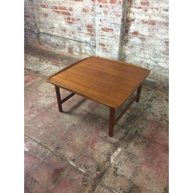 1980s Scandinavian Modern Dux Sweden Teakwood Coffee Table For Sale - Image 4 of 13