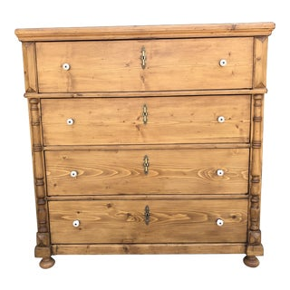 European Pine Chest of Drawers For Sale