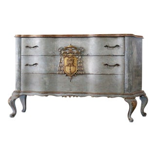 Italian Cardinal Medina Coat of Arms Chest For Sale