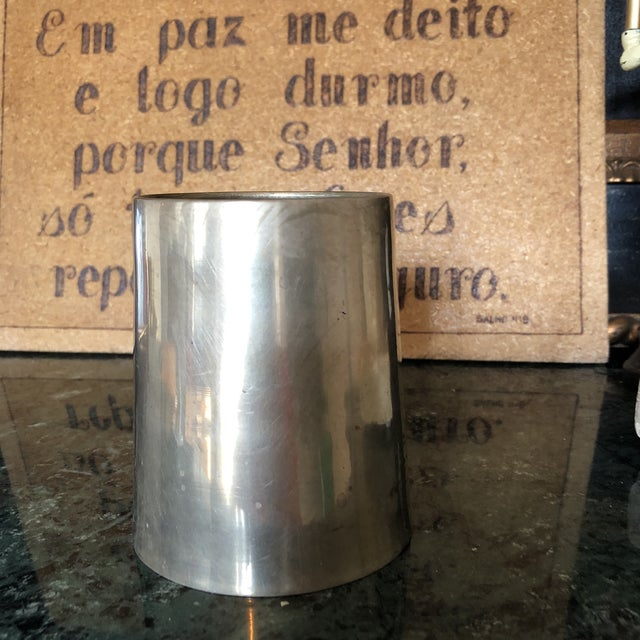 Transitional 1950s Solid Brass Artist Cup For Sale - Image 3 of 7