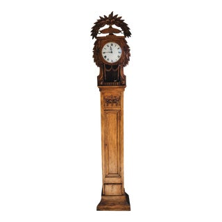19th Century French Pine Clock For Sale