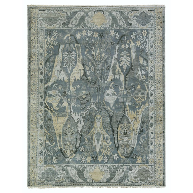 Emerald Loch Hand knotted Wool Emerald Rug-12'x15' For Sale - Image 8 of 8