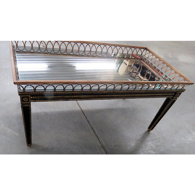 Glass Directoire Style Coffee Table For Sale - Image 7 of 9