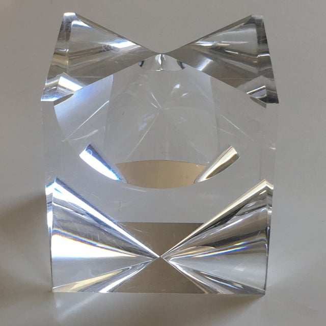 1960s 1960s Mid-Century Modern Alessio Tasca Lucite Cube Sculpture For Sale - Image 5 of 11