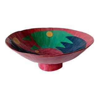 Modern Paper Mache Decorative Bowl For Sale