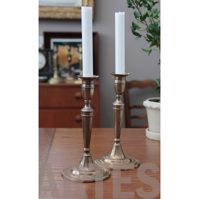 18th Century English Bell Metal Candlesticks - a Pair - Image 6 of 6