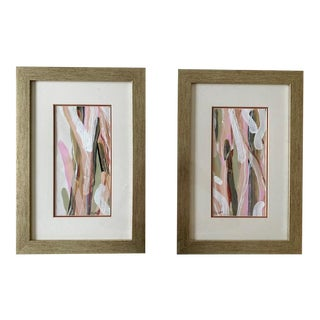 Beth Downey Sunset Sea Grass Paintings - a Pair For Sale