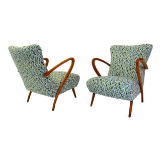 Pair of Guglielmo Ulrich Armchairs, Italy 1950 - New Upholstery For Sale