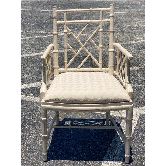 Coastal Lane Chinese Chippendale Arm Chair For Sale In Miami - Image 6 of 6