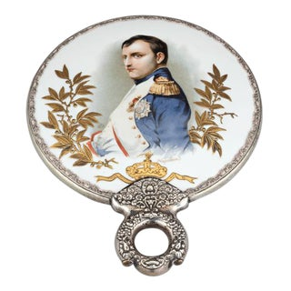 Porcelain Hand Mirror With Portrait of Napoléon For Sale