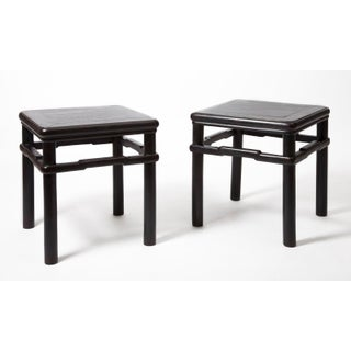 Antique Chinese Black Lacquer Tables - a Pair Preview