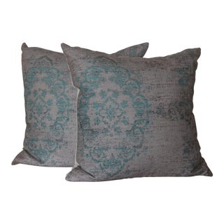 """Turkish Rug Print 18"""" Pillow Covers - A Pair For Sale"""