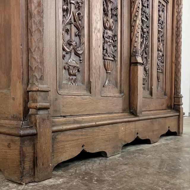 19th Century French Gothic Bookcase ~ Vitrine For Sale In Dallas - Image 6 of 13