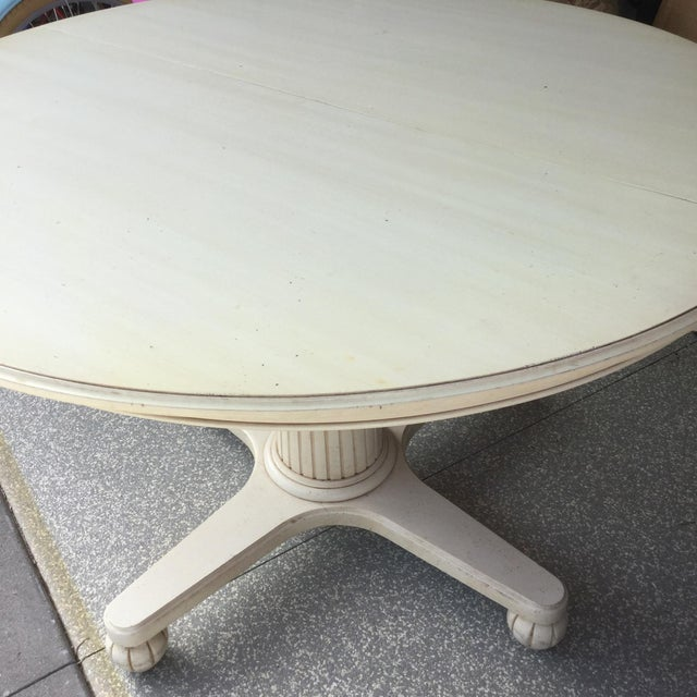 Ethan Allen Swedish Home Pedestal Dining Table - Image 3 of 9