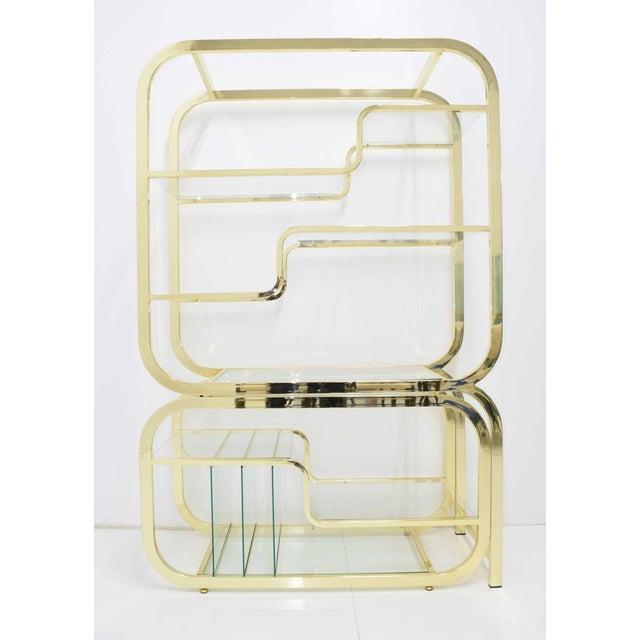 1970s Milo Baughman for DIA Brass Finish Étagère For Sale - Image 5 of 8