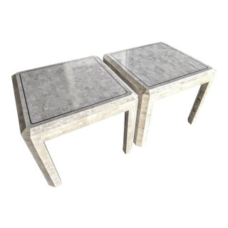 Maitland Smith Tessellated Coral Side Tables, a Pair For Sale