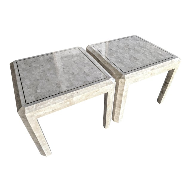 Maitland Smith Tessellated Coral Side Tables - a Pair For Sale