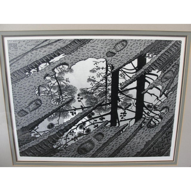 Modern Vintage 'Puddle' Print by M.C. Escher For Sale - Image 3 of 8