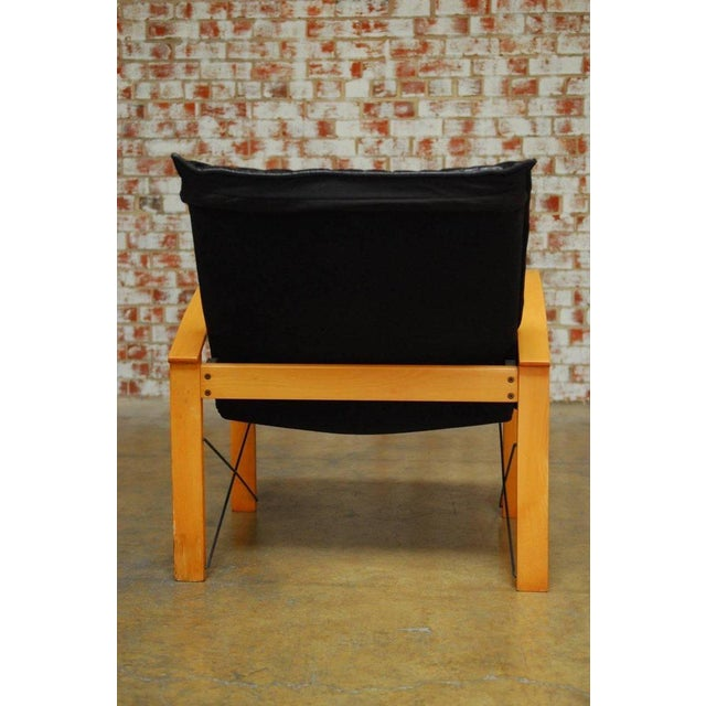 Animal Skin Mid-Century Danish Bentwood & Leather Armchairs - A Pair For Sale - Image 7 of 10