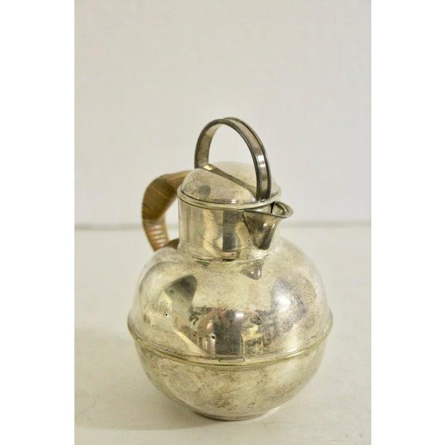 Art Deco Art Deco 1920's Rattan Handle Tea Pot For Sale - Image 3 of 7